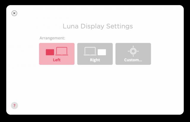 Setting the Luna Display arrangement