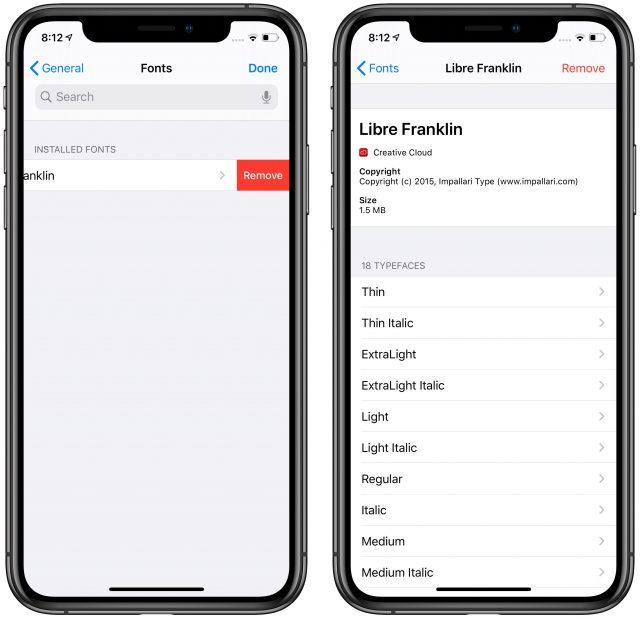 Lettertypen beheren in iOS