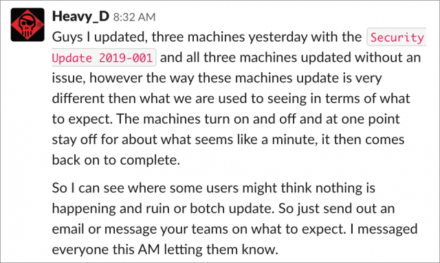 Speculation about the user interruption theory on MacAdmins Slack