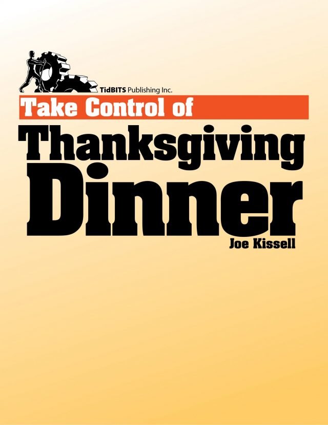 Take Control of Thanksgiving Dinner cover