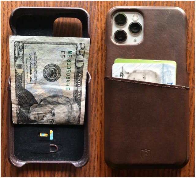 Ekster iPhone 11 Pro Case inside and back