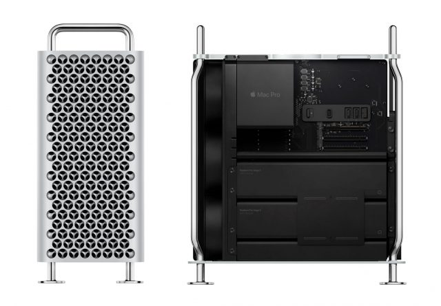 Mac Pro front and side, case open