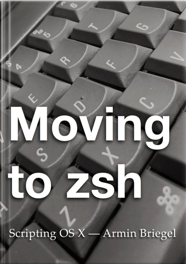 The Moving to zsh book cover