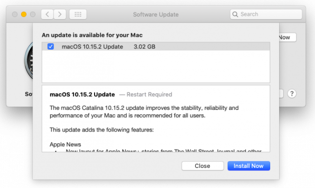 macOS 10.15.2 release notes