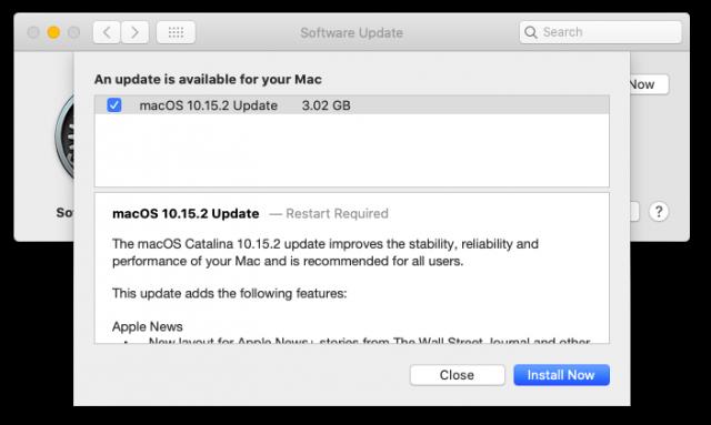 macOS 10.15.2 toelichting