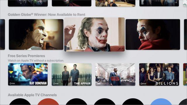 An Apple TV promotion for Joker