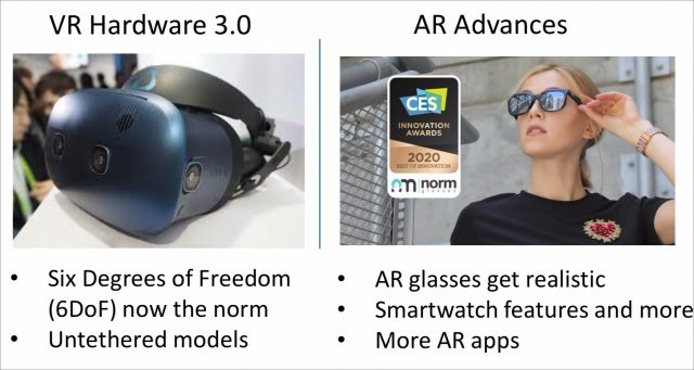 Upcoming improvements to VR and AR hardware