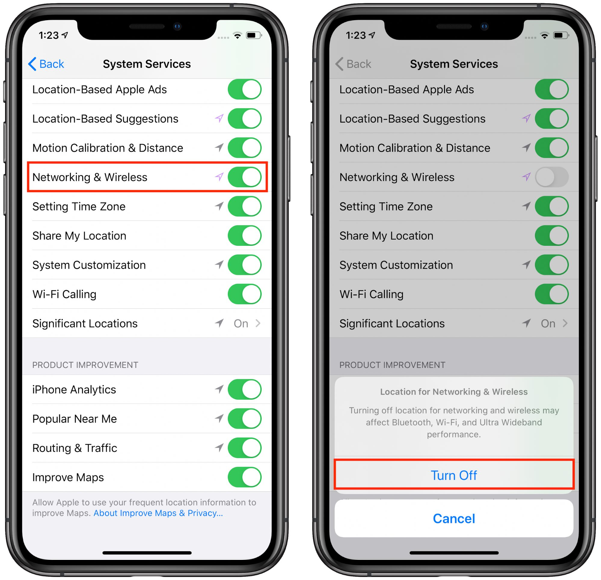 The new Networking & Wireless setting