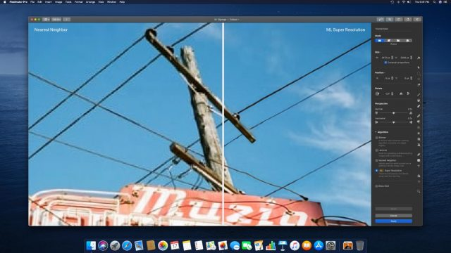 Pixelmator Pro 1.5.4 ML Super Resolution feature