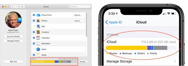 Finding your iCloud limits on the Mac and iPhone