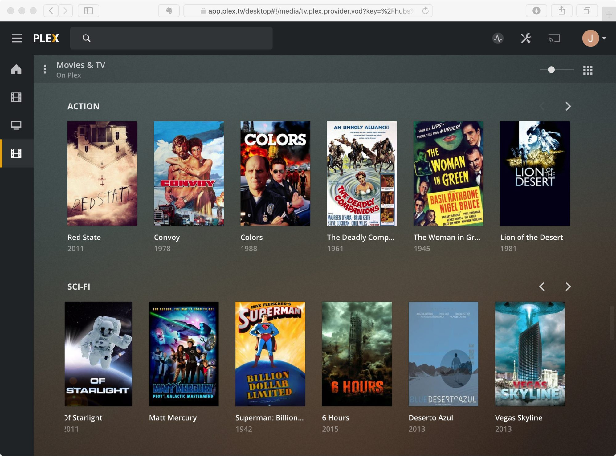 Plex Free Video-on-Demand