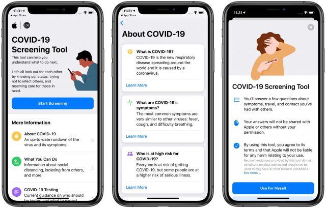 Apple's COVID-19 app