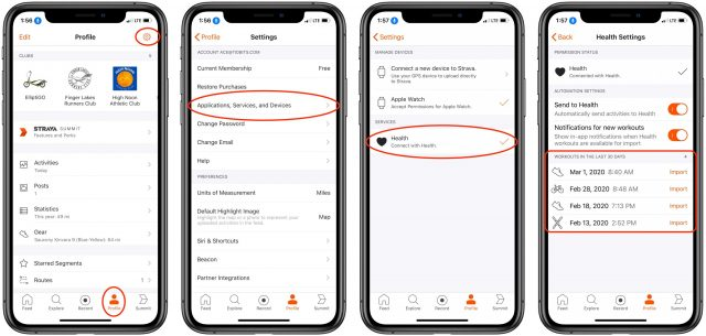 Connecting Strava and Workouts