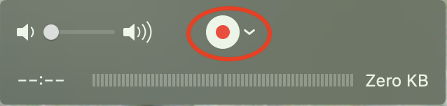 QuickTime record button