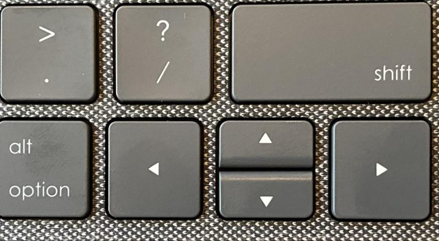 The Combo Touch arrow keys
