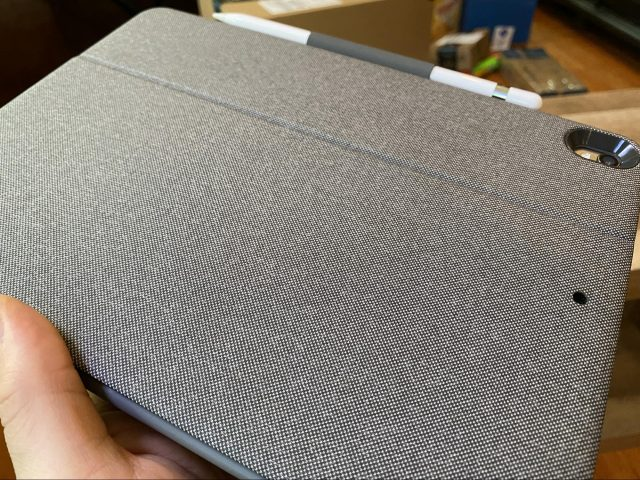 The gray texture of the Combo Touch case