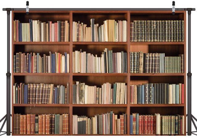 Bookshelf backdrop