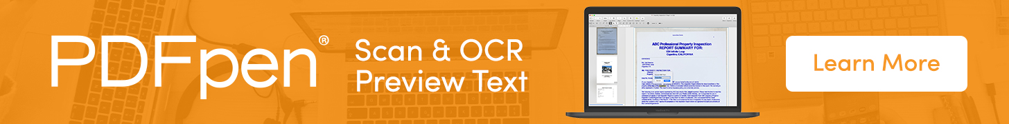 PDFpen: Scan & OCR Preview Text