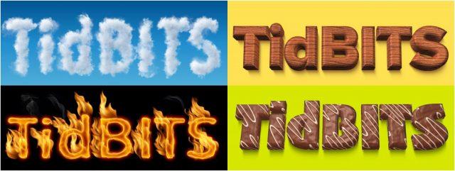TidBITS logos using Art Text