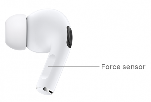 AirPods Pro force sensor location