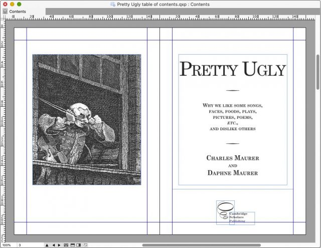 Pretty Ugly book in QuarkXPress
