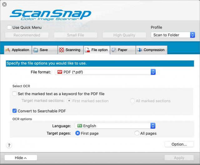 ScanSnap Manager V7