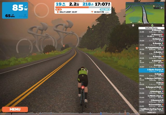 Cycling in Zwift