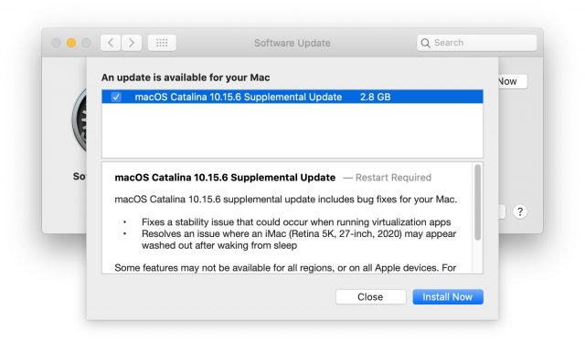 macOS 10.15.6 release notes