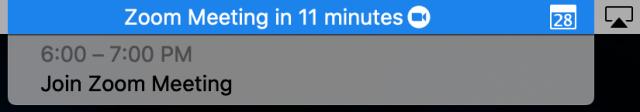 Zoom notification