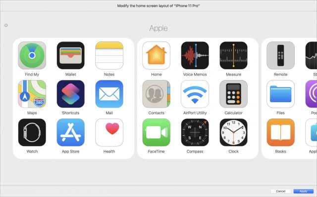 Apple Configurator 2 folder interface