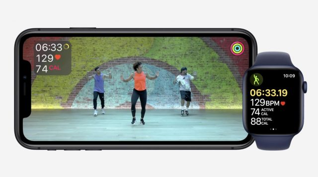 A workout in Apple Fitness+