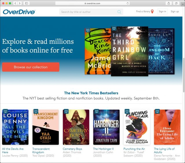 The OverDrive Web site