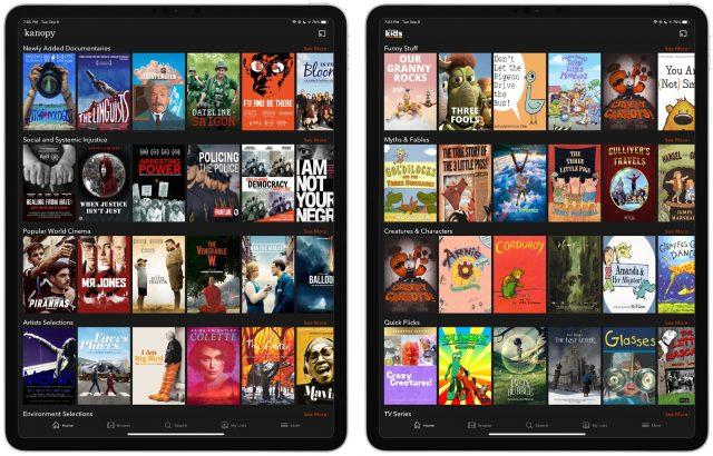 Kanopy on iPad