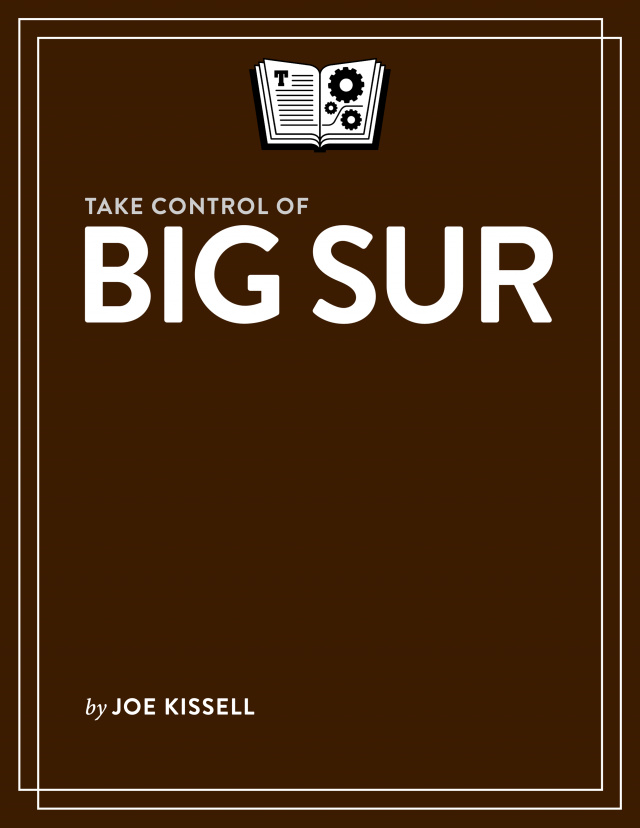 Take Control of Big Sur cover