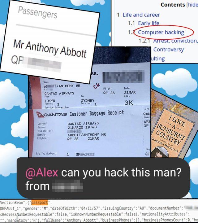 Tony Abbott's boarding pass