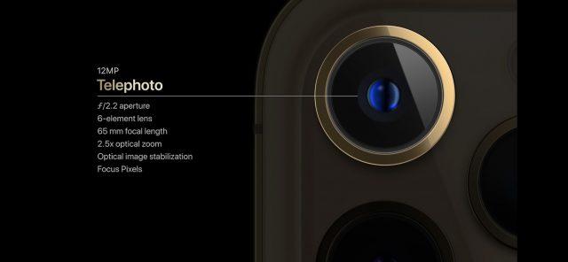 iPhone 12 Pro telephoto camera specs