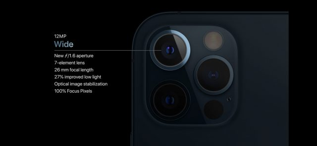 iPhone 12 Pro wide camera specs