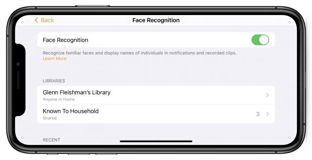 Face Recognition options
