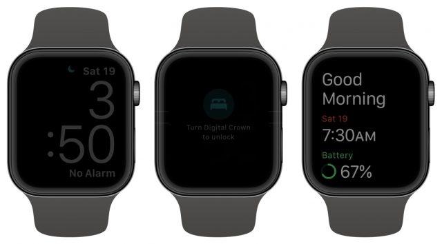 Apple Watch sleep tracking display