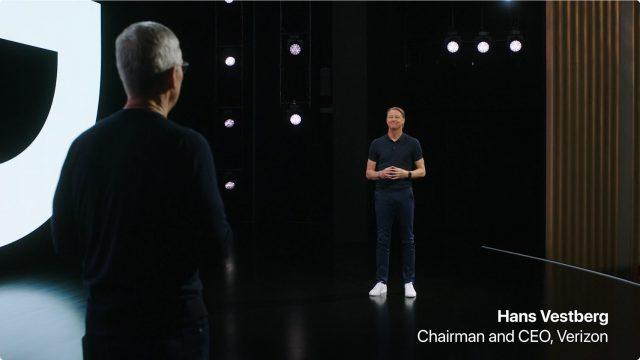 Hans Vestberg at iPhone 12 debut