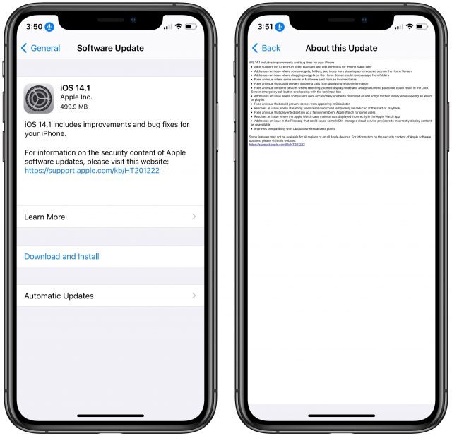 iOS 14 release notes