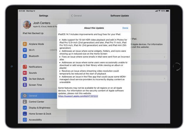 iPadOS 14 release notes