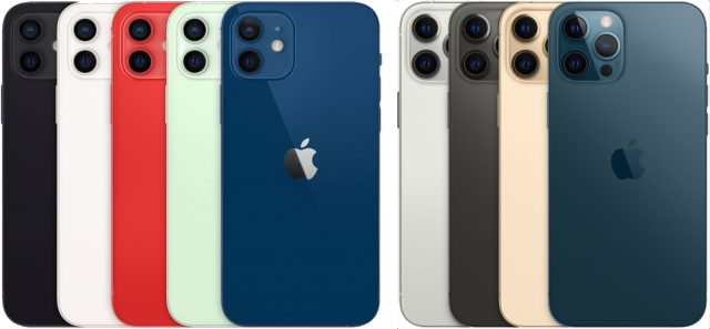 iPhone 12 and iPhone 12 Pro colors