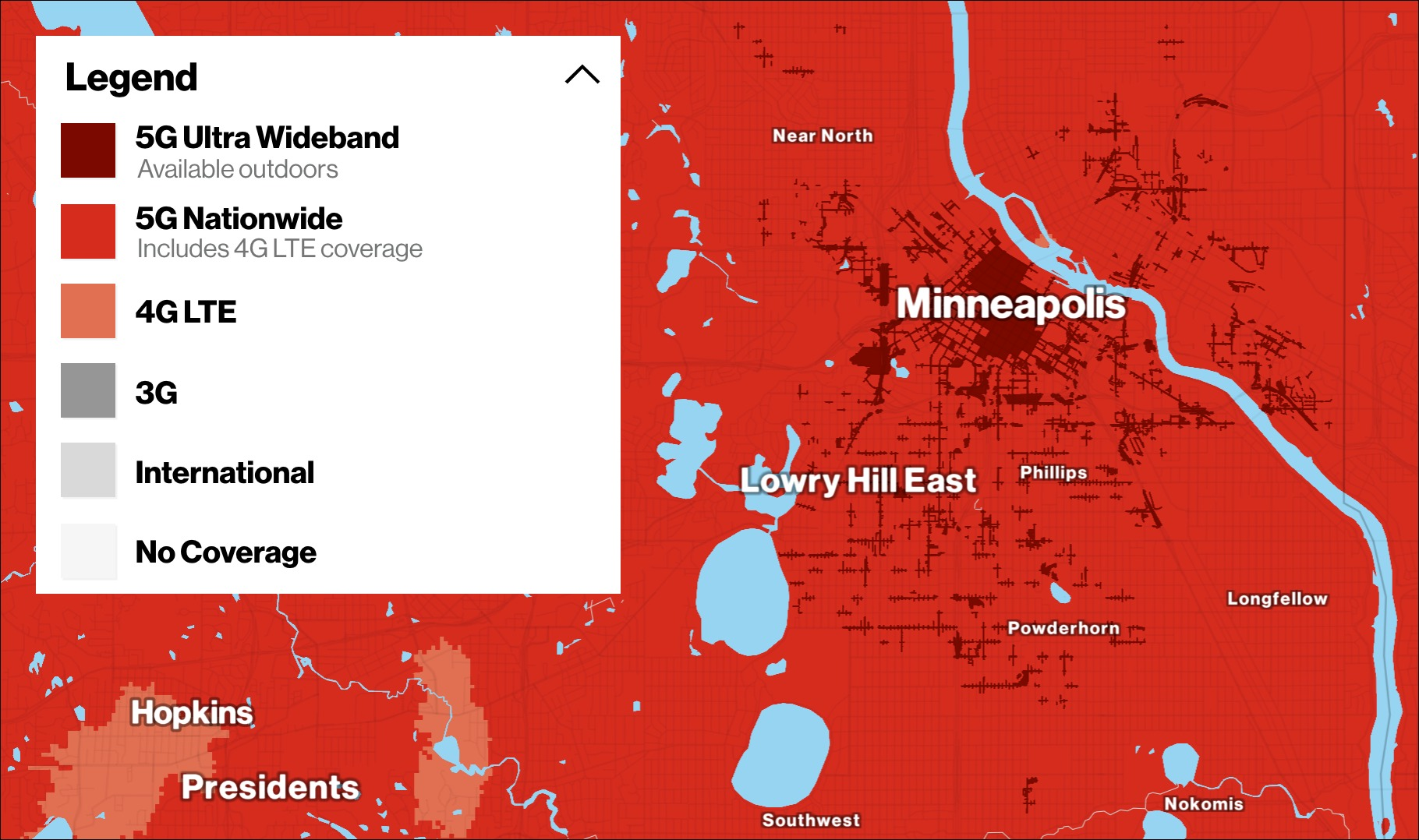 Verizon Minneapolis 5G map