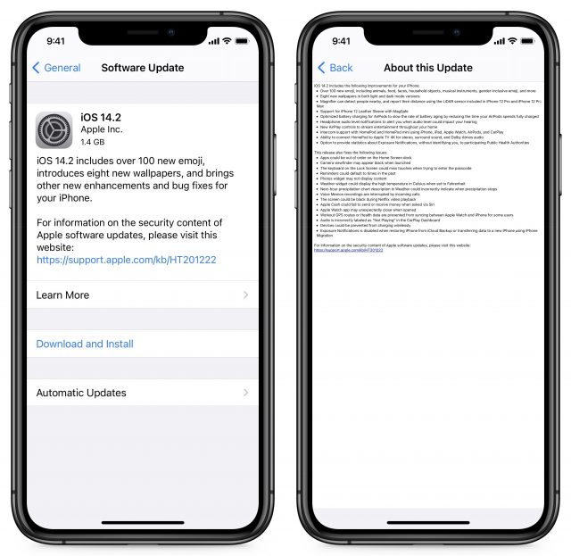 iOS 14.2 release notes