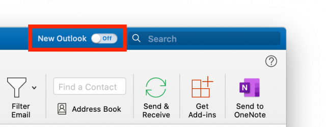 Microsoft Office new Outlook switch