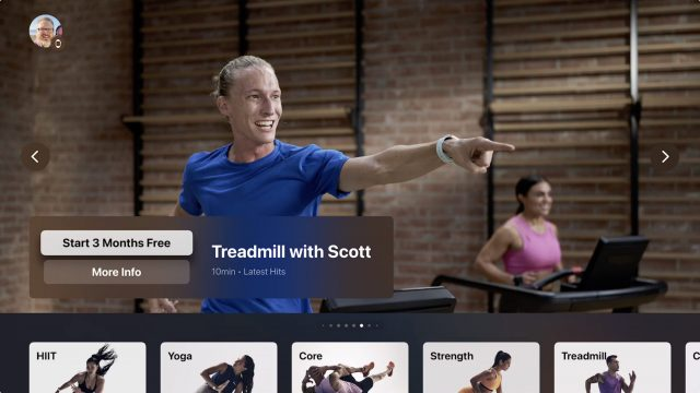 Fitness+ Apple TV