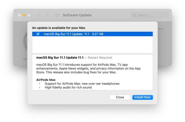Big Sur 11.1 Release Notes