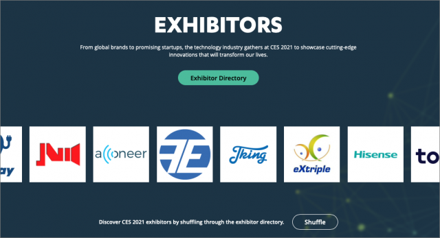 CES 2021 exhibitors