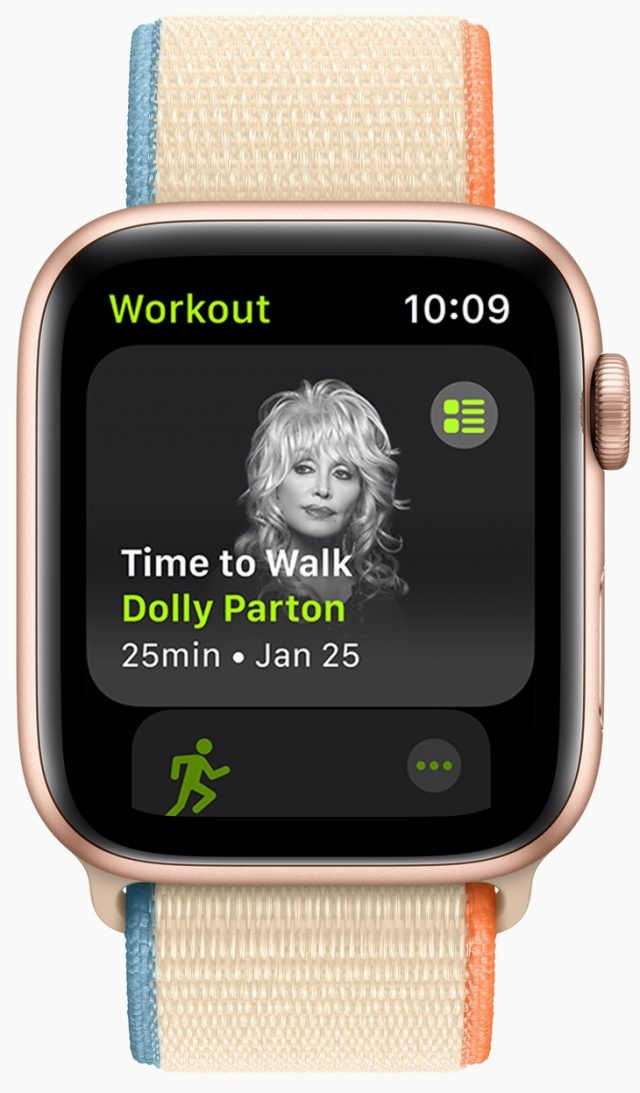 Time to Walk with Dolly Parton on Apple Watch